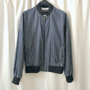 RARE Calvin Klein Striped Bomber Jacket